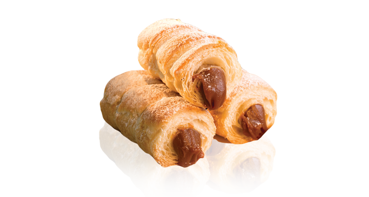 Small cannons filled with dulce de leche or pastry cream